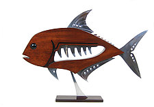African Pompano by Mark Gottschalk (Wood & Metal Sculpture)