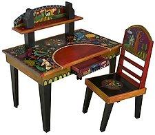 Desk Set by Sticks (Wood Desk & Chair)
