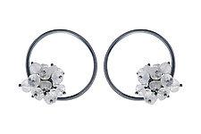 Large Adva Moonstone Hoops by Michelle Pajak-Reynolds (Silver & Stone Earrings)