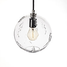 Lightning Impression 7-Inch Pendant by Tyler Kimball (Art Glass Pendant Lamp)