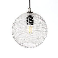 Pulse 7-Inch Pendant by Tyler Kimball (Art Glass Pendant Lamp)
