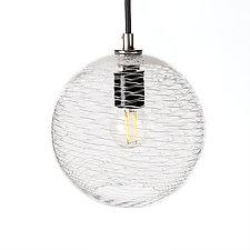 Pulse 7-Inch Pendant by Tyler Kimball (Art Glass Pendant Lamp)