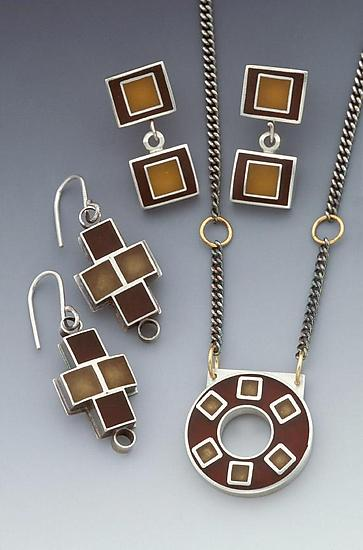 4 Square Plus Earrings & Necklace