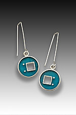 Square Out Chris Earring by Eileen Sutton (Silver & Resin Earrings)