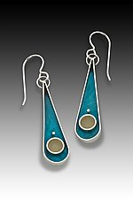 Teardrop Earring by Eileen Sutton (Gold, Silver & Resin Earrings)