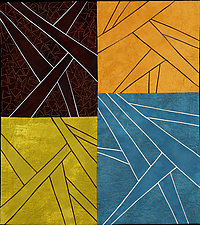 Drawing the Line by Janet Steadman (Fiber Wall Hanging)
