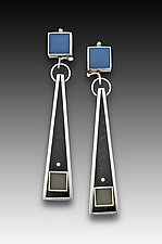 Square Top Triangle Earring by Eileen Sutton (Silver & Resin Earrings)