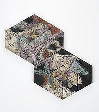 Evan Roe by Phyllis Pacin (Ceramic Wall Sculpture)