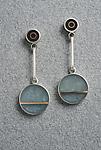 Two Dot Earring by Eileen Sutton (Mixed-Media Earrings)