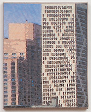 Chicago Windows 1304 by Marilyn Henrion (Fiber Wall Hanging)