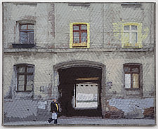 Lodz Windows 1318 by Marilyn Henrion (Fiber Wall Hanging)