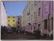 Lodz Windows 1321 by Marilyn Henrion (Fiber Wall Hanging)
