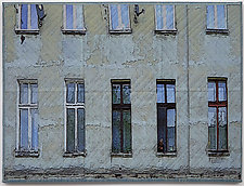 Lodz Windows 1319 by Marilyn Henrion (Fiber Wall Hanging)