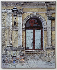 Krakow Windows 1339 by Marilyn Henrion (Fiber Wall Hanging)