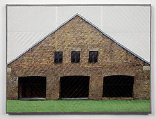 Auschwitz Windows 1330 by Marilyn Henrion (Fiber Wall Hanging)
