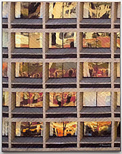 Gotham Windows 1446 by Marilyn Henrion (Fiber Wall Hanging)