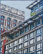 Broadway Windows by Marilyn Henrion (Fiber Wall Hanging)