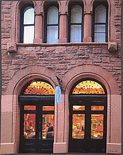 New York Windows 1445 by Marilyn Henrion (Fiber Wall Hanging)