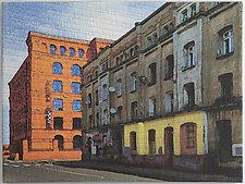 Lodz Windows 1431 by Marilyn Henrion (Fiber Wall Hanging)