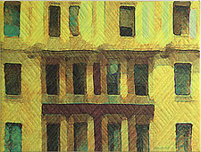 New York Windows 1342 by Marilyn Henrion (Fiber Wall Hanging)