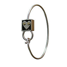 Heart In A Box Wire Bracelet by Thomas Mann (Silver, Brass & Bronze Bracelet)