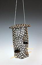 Dots Bird Feeder by Larry Halvorsen (Ceramic Bird Feeder)