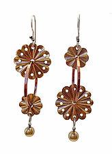 Techno Bloom Earrings by Thomas Mann (Metal Earrings)