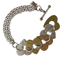 Recurring Love Bracelet by Thomas Mann (Silver, Bronze & Brass Bracelet)