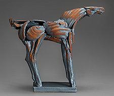Long Iron Tribute Horse by Jeri Hollister (Ceramic Sculpture)