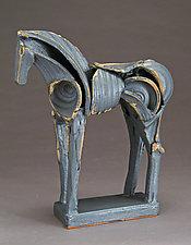Upright Kawai Tribute Horse by Jeri Hollister (Ceramic Sculpture)