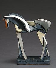 Light Slips Earthenware Series, After the Race by Jeri Hollister (Ceramic Sculpture)