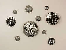 Random Pattern Wall Balls by Larry Halvorsen (Ceramic Wall Art)
