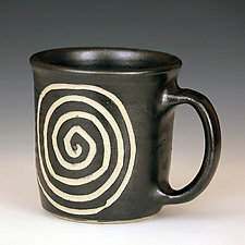 Wheel Thrown Mugs by Larry Halvorsen (Ceramic Mug)