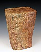 Stump and Woven Tables by Larry Halvorsen (Ceramic Side Table)