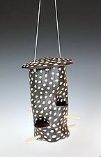 Dots Bird Feeder by Larry Halvorsen (Ceramic Bird Feeder)