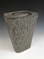 Rug Pattern Table by Larry Halvorsen (Ceramic Side Table)