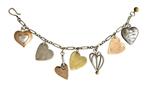3 D Heart Charm Bracelet by Thomas Mann (Metal Bracelet)
