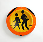 Orange Kids X-ing Platter by Boris Bally (Recycled Metal Platter)