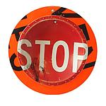 Stop Sign D.P.W. Platter by Boris Bally (Metal Wall Sculpture)