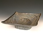 Square Pedestal Tray by Larry Halvorsen (Ceramic Tray)