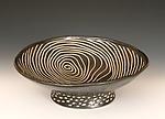Round Pedestal Bowl by Larry Halvorsen (Ceramic Bowl)