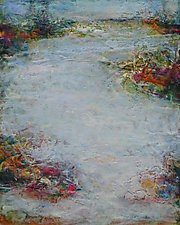 In the Flow by Lori Austill (Encaustic Painting)