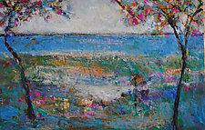Crisp Summer Day by Lori Austill (Encaustic Painting)