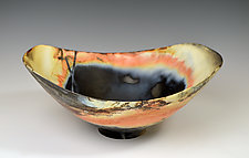 Oval Bowl - Large by Judith  Motzkin (Ceramic Bowl)