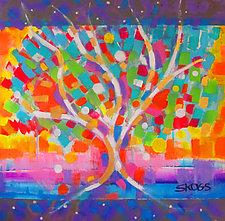 Summertime Fun Tree by Joan Skogsberg Sanders (Acrylic Painting)