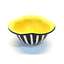 Yellow Trefoil Bowl by Matthew A. Yanchuk (Ceramic Bowl)