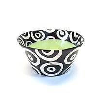 Small Flared Bowl in Green by Matthew A. Yanchuk (Ceramic Bowl)