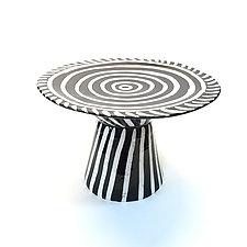 Spiral Cake Platter by Matthew A. Yanchuk (Ceramic Cake Platter)