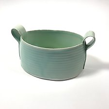 Tall Oval Container by Matthew A. Yanchuk (Ceramic Bowl)