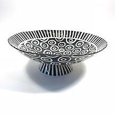 Large Pedestal Bowl by Matthew A. Yanchuk (Ceramic Bowl)